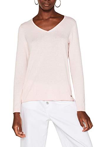 edc by ESPRIT Damen 079Cc1I001 Pullover, Rosa (Light Pink 690), Small (Herstellergröße: S)