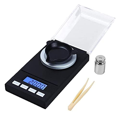 M3 Decorium Escalas de Alta precisión de precisión Escala de Laboratorio Balance de Peso para joyería Diamond LCD Digital Digital Balquillas de Bolsillo Escala (Color : 0.001g X 20g)