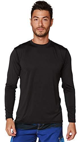 Camiseta UV Protection Masculina UV50+ Tecido Ice Dry Fit, Controla Temperatura (Preto, G)