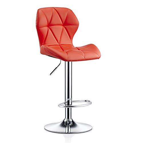 ZHPBHD Lehrstuhl Frühstück sichel Stuhl Stühle höhenverstellbar Rückenlehne stark basische Chromplatte for eine Küche 120Kg maximale Last bar (Color : Red, Size : 60-80cm)