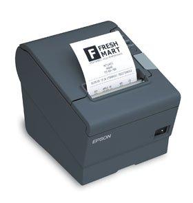 Epson Receipt Printer - Thermal line - Roll (3.15 in) - up to 708.7 inch/min - USB, LAN, Serial - Dark Gray
