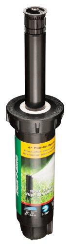 "Rain Bird 1804HEVN15 High Efficiency Professional Pop-Up Sprinkler, Adjustable 0° - 360° Pattern, 8' - 15' Spray Distance, 4"" Pop-up Height"