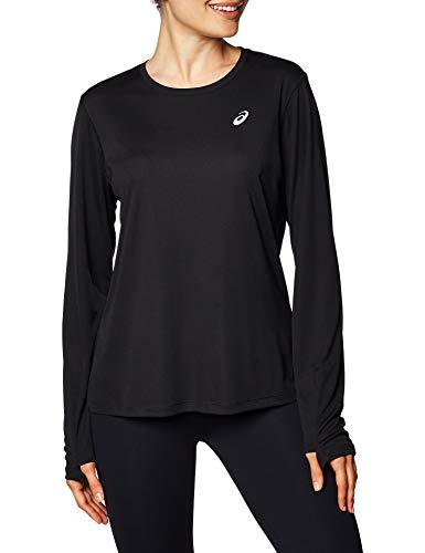 ASICS Silver LS Top Camiseta, Mujer, Performance Black, S