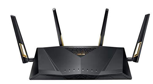 ASUS RT-AX88U WLAN-Router (AX6000 WiFi 6 Standard, MU-MIMO, OFDMA, AiProtection, Gaming Engine, Adaptive QoS, 8X Gigabit, USB 3.1)