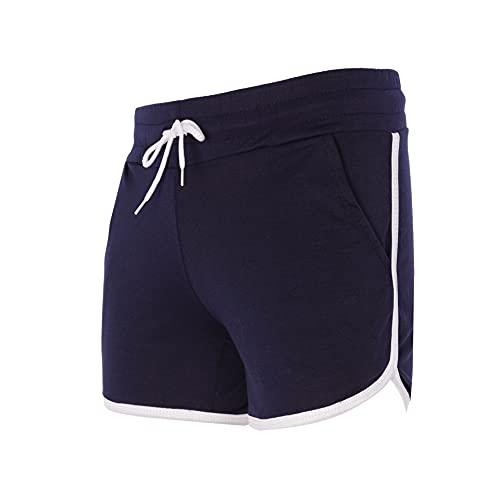 Trendcool Pantalones Cortos Mujer. Pantalones Chandal Mujer. Mallas Cortas Mujer. Short Deportivo Mujer. Shorts Elasticos Fitness. (M10, L)