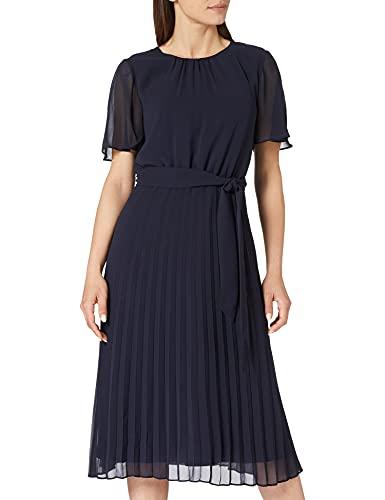 ESPRIT Collection Damen 021EO1E314 Kleid, 400/NAVY, 38