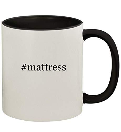 #mattress - 11oz Ceramic Colored Handle and Inside Coffee Mug Cup, Black