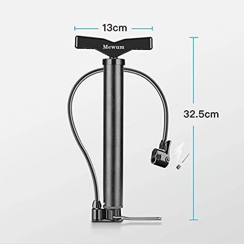 Mewum Bicycle pumps,Bike Pump Ergonomic Bicycle Pump with Large Pressure Gauge Bicycle Floor Pump fits Valve for Road Bike, MTB, Hybrid, Balls, 200PSI