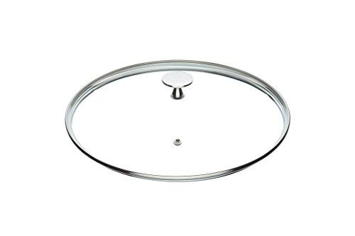 Tapa de cristal para cacerola KitchenCraft Masterclass, con mango de acero inoxidable, de 20cm, transparente, vidrio, transparente, 26 cm