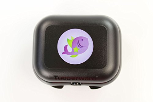 Tupperware to go Mini de Twin Negro signo pescado fiambrera Depósito P 18208
