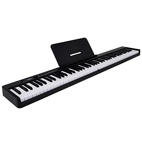 RYSF Órgano electrónico Órgano electrónico portátil 88 Teclas Teclado de Piano electrónico Salida Midi Batería Recargable con Bolsa de Piano con Pedal de sostenido (Color : White)