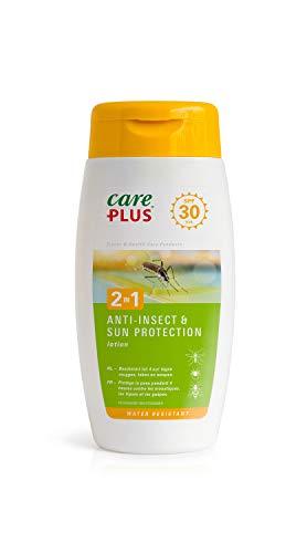 Care Plus Lotion 2en1, Anti-Insectes et Protection Solaire SPF30, Pour les Destinations en Europe, 4h de Protection, Pour 2 Adultes, 150 ml
