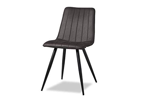 Liv&Giv Industrial Dining Chair Jamy Anthracite - Bucket Chair