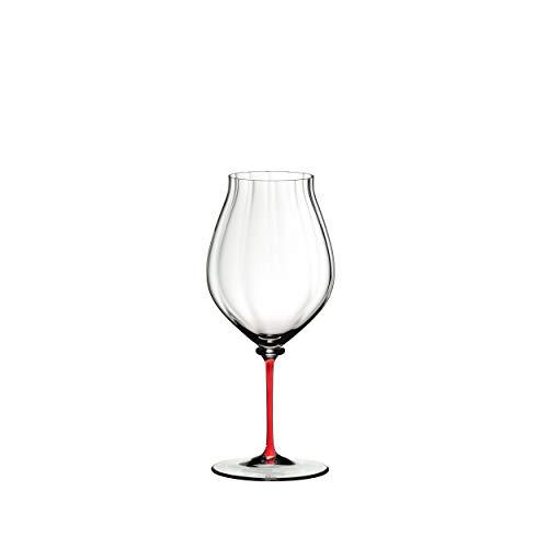 RIEDEL Fatto A Mano Performance Pinot Noir 4884/67r - Copa de Vino (Cristal, 830 ml), Color Rojo