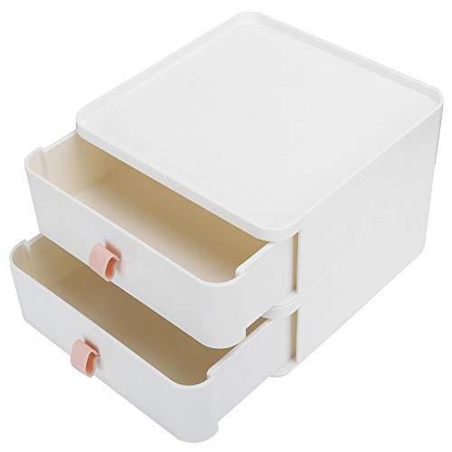 Vcriczk Organizador de Escritorio, Caja de Almacenamiento de cajones de Oficina Antideslizante Multicapa para Documentos para cosméticos