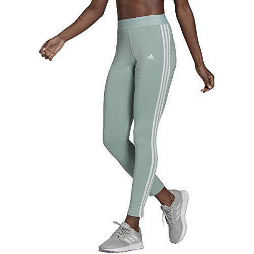 adidas Womens Essentials Legging Hazy Green/White X-Small