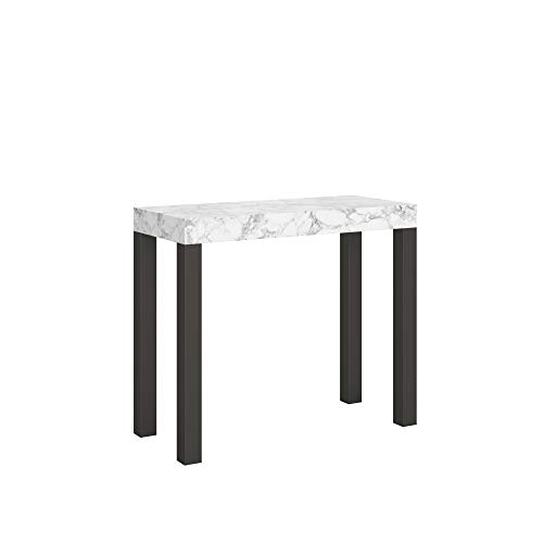Itamoby Mesa consola extensible Everyday Small efecto mármol, 90 x 40 x 77 cm, extensible hasta 196 cm