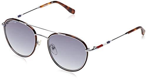 Lacoste Men's L102SND Oval Sunglasses, Silver/Blue, 51 mm