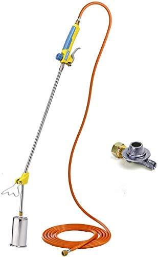 Gloria 000296.6100 Thermoflamm Bio Professional Set F Desherbeur à gaz, argent/bleu