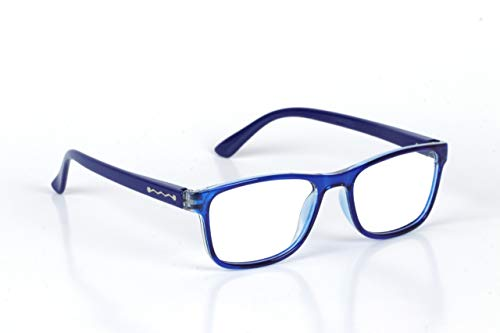 Implicit Blue light Blocking Computer Glasses for kids Zero Power Spectacles With Anti Glare Glasses for UV & Eye Protection & Anti Eyestrain For Age 5-10 Years Girls and Boys (Blue)