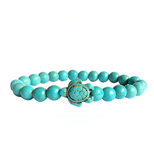 Pulsera de cuentas marinas tobilleras joyas para mujeres adolescentes y niñas, brazalete de piedra regalo