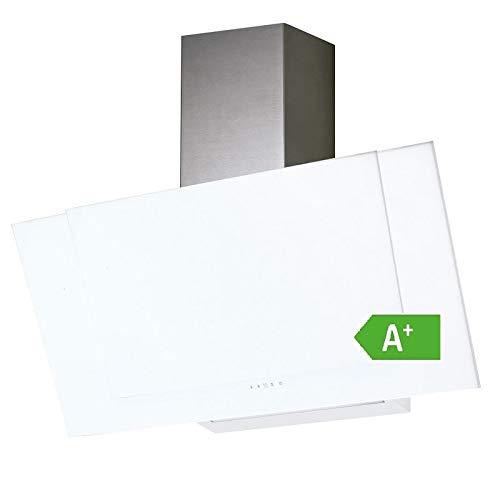 Allcata VALIO 900 XGWH Dunstabzugshaube 90 cm kopffrei weiß Glas 6 Leistungsstufen mit Nachlaufautomatik LED-Beleuchtung 44 dB(A) bis 900 m³/h