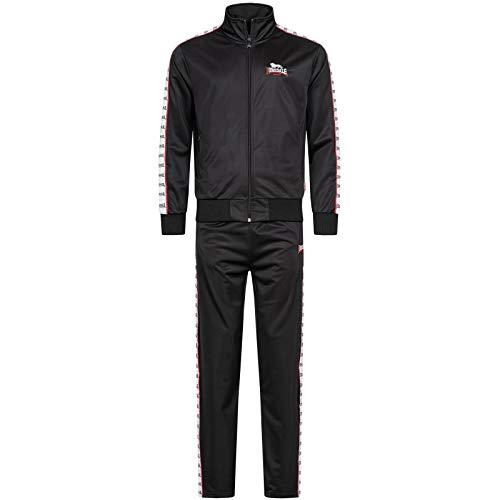 Lonsdale Herren Trainingsanzug Ticknall, Größe:XL, Farbe:Black/White