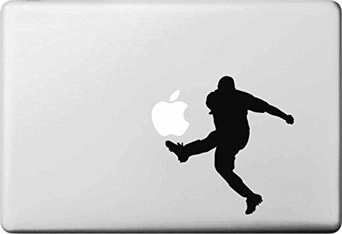 Vati Blätter Removable Kreative Karikatur-Apple-Fußball Aufkleber Aufkleber Skin Art Schwarz für Apple MacBook Pro Air Mac 13