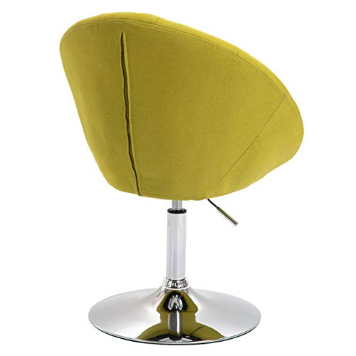 SVITA Havanna Sessel Lounge Clubsessel Drehsessel Stoff Cocktailsessel Retro Barhocker Grün - 4