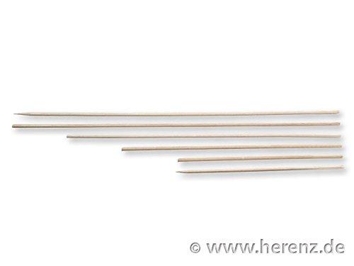Schaschlikspiese Holzstäbe Bastelspiese 300x3 mm einseitig spitz 100 St/Beutel