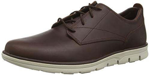 Timberland Bradstreet Plain Toe Sensorflex, Zapatos de Cordones Oxford para Hombre, Marrón Dark Brown Full Grain, 42 EU