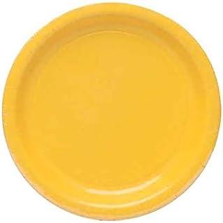 اطباق عشاء ورقية من كرياتيف كونفيرتينغ، عبوة من 8 قطع، اصفر زاهي