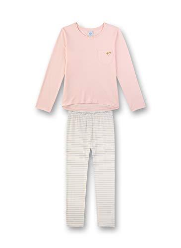 Sanetta Mädchen Pyjama lang Zweiteiliger Schlafanzug, Rosa (rosa 3990), (Herstellergröße:164)