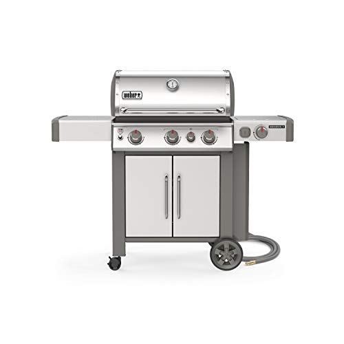 Weber 66006001 Genesis II S-335 3-Burner Natural Gas Grill, Stainless Steel