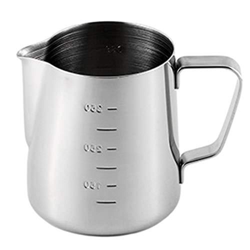 Elibeauty - Caraffa per latte in acciaio inox 304, con marcatura di misurazione per barista, cappuccino e caffè espresso, misura piccola