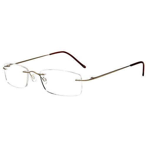 Gafas de lectura LianSan de titanio sin montura para hombres y mujeres ligeras y a la moda 8085