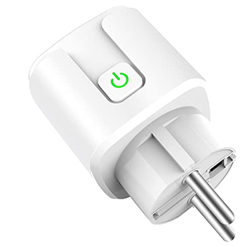Mogzank Tuya Wifi Enchufe Inteligente 16A 220V Adaptador Control de Voz Remoto Monitor de EnergíA Enchufe del Temporizador para Home Alexa Enchufe de la UE