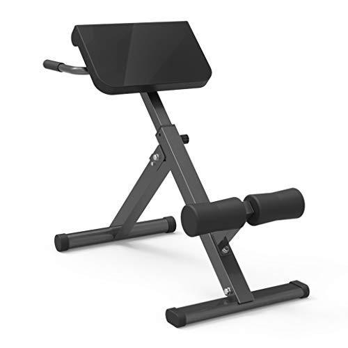 Qazqa Core Trainer Weight Ab Bench Folding Roman Chair, Adjustable Leg Press Machine, Abdominal Strength Training Equipment, Lower Extension Bench Hyperextension Machine for Back Workout