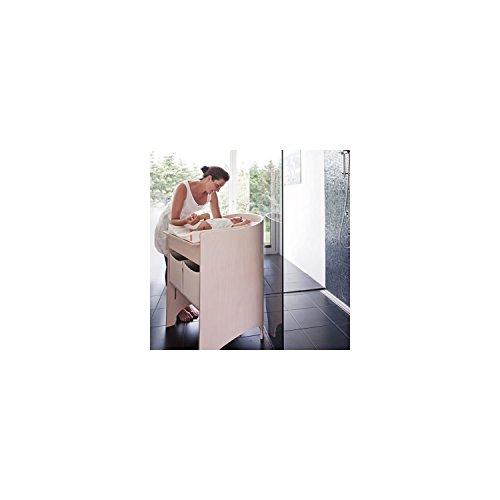 Leander Wickeltisch in Buche, Farbe: weiß
