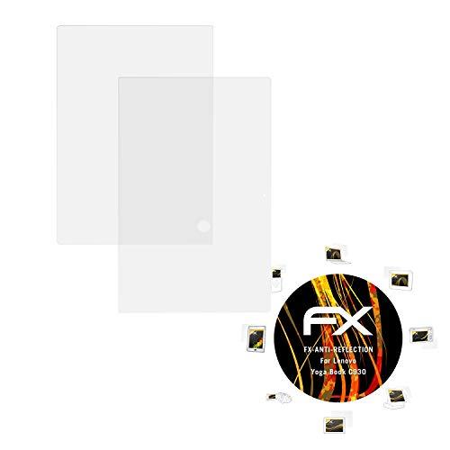 atFolix Panzerfolie kompatibel mit Lenovo Yoga Book C930 Schutzfolie, entspiegelnde & stoßdämpfende FX Folie (2er Set)