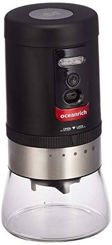 oceanrich 自動コーヒーミル G1 臼式 コードレス 粗さ5段階調整可能 ブラック UQ-ORG1BL UQ-ORG1BL