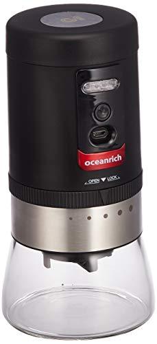 oceanrich自動コーヒーミルG1臼式コードレス粗さ5段階調整可能ブラックUQ-ORG1BLUQ-ORG1BL