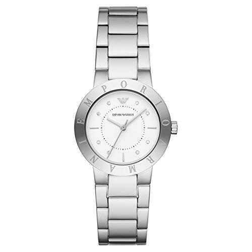 Emporio Armani Damen Analog Quarz Uhr mit Edelstahl Armband AR11250
