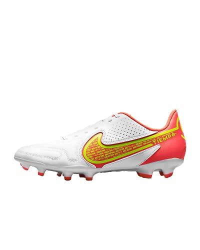 Nike Tiempo Legend 9 Club FG/MG, Zapatillas de ftbol Unisex Adulto, White Volt Bright Crimson, 43 EU