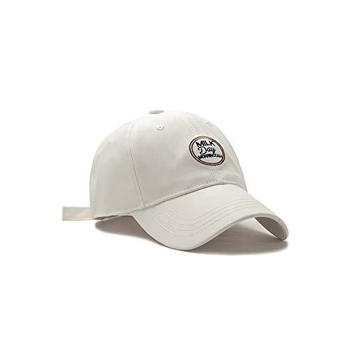 ZZYJYALG Sombreros para hombres 100% algodón letra bordado curvado reborde sol sombrero béisbol gorra polo estilo clásico deportes casual llano sol sombrero, tapa ajustable de color sólido, liviano tr