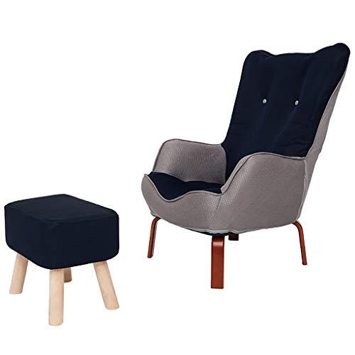 Stoff Leinen Gepolsterter Sessel Mit Fußschemel, Glider Baby Nursing Chair Früher Sofa Sessel & Hocker, Hohe Rückenlehne Und Armlehne Für Wohnzimmer Schlafzimmer