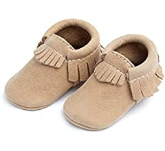 Beehive State Freshly Picked Soft Sole Leather Baby Moccasins Size 2