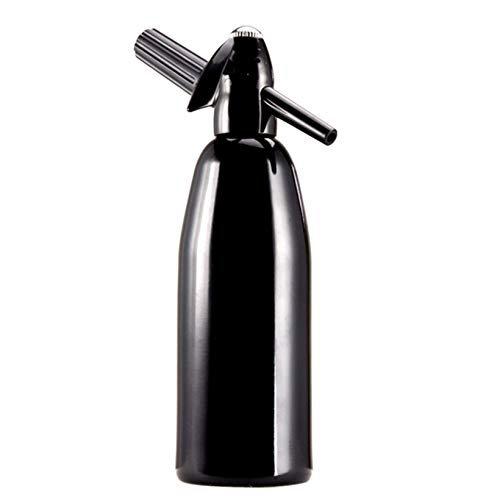 RSTJ-Sjap Soda Agua Siphon Soda Gun, Máquina de refrescos para el hogar, 1L de Gran Capacidad, fácil de Usar, Tres Colores para Elegir,Negro