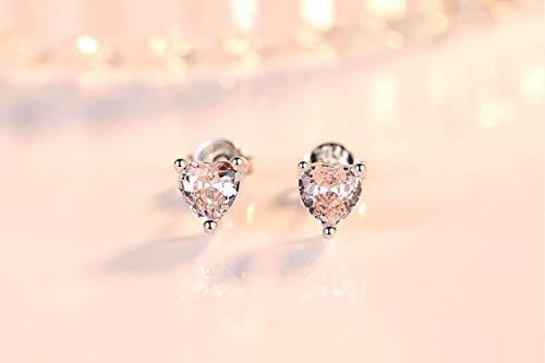 LIDAYE Pendientes de Plata 925 a la Moda, Pendientes de joyería con Piedras Preciosas de topacio Colorido en Forma de corazón para Mujer, Fiesta de Boda