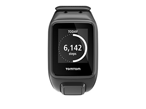 TomTom Spark Music Cardio GPS Multi-Sport Fitness Runner Running Watch with Music, Heart Rate Monitor and Bluetooth Headphones, Large Strap – Black